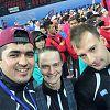 Команда РК в составе руководителя команды Александра Кузьменко и двух профессиональных теннисистов: Дмитрия Макеева и Хушнуда Мирзаева.